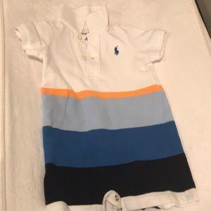 Ralph Lauren polo striped short onesie size 3mo